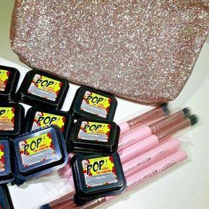 Elizabeth Mott Makeup - 18 pc Elizabeth Mott Makeup Lot + Sparkly Bag